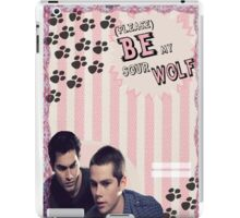 My Teenwolfed Valentine[Please Be My Sour Wolf] iPad Case/Skin
