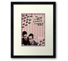 My Teenwolfed Valentine[You Are My Favourite Sour Wolf] Framed Print