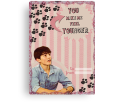 My Teenwolfed Valentine[You Make Me Feel Younger] Canvas Print