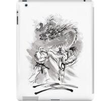 Karate kyokushinkai whit dragon poster iPad Case/Skin