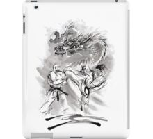 Karate kyokushinkai whit dragon poster iPad Case/Skin