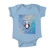 Many Penguins One Piece - Short Sleeve