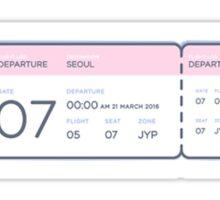 GOT7 <FLIGHT LOG : TURBULENCE> TICKET Sticker