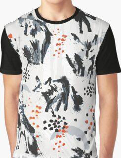 Wolf Splatters Graphic T-Shirt