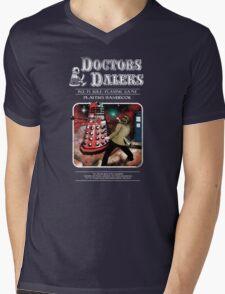 Doctors & Daleks Mens V-Neck T-Shirt