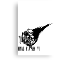 Final Fantasy VII logo Canvas Print