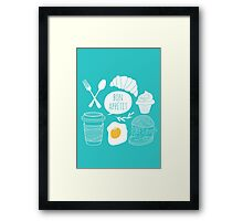 Breakfast pattern Framed Print
