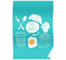 Breakfast pattern Poster
