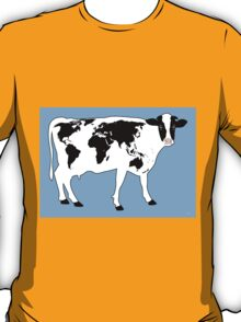 Map of the World Cow T-Shirt