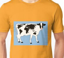 Map of the World Cow Unisex T-Shirt