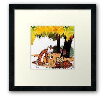 Calvin and Hobbes Treasure Hunter Framed Print