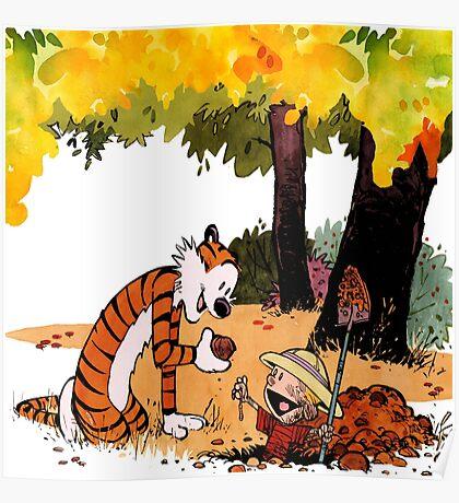 Calvin and Hobbes Treasure Hunter Poster