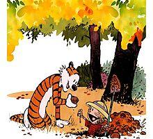 Calvin and Hobbes Treasure Hunter Photographic Print