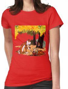 Calvin and Hobbes Treasure Hunter Womens Fitted T-Shirt