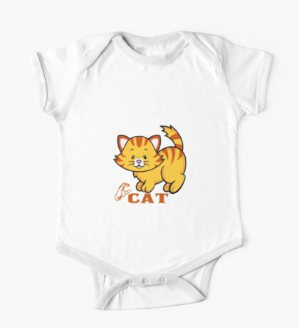 C is for Cat - ASL One Piece - Short Sleeve