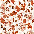 A pattern of acorn,pine cone & Leaves (695  Views) by aldona