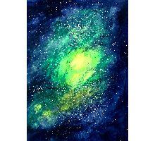 Pixel Green Nebula Photographic Print