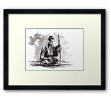 Samurai Japanese Warrior Large Poster Framed Print