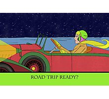 Road Trip Ready, Driving at Night Photographic Print