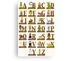 Mythical Creatures Alphabet Canvas Print