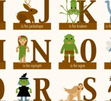 Mythical Creatures Alphabet Sticker
