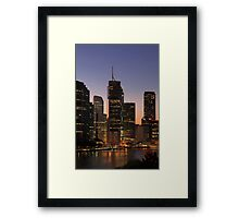 Brisbane at Dusk Framed Print