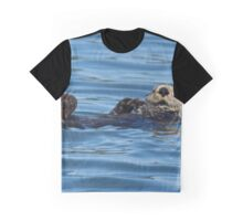 Nature Photo of Relaxed Sea Otter Graphic T-Shirt