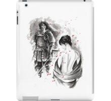 Samurai and Girl Cherry Blossom Large Poster iPad Case/Skin