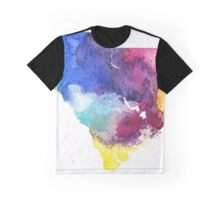 Watercolor Map of South Carolina, USA in Rainbow Colors - Giclee Print of My Own Watercolor Painting Graphic T-Shirt