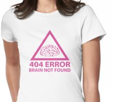 404 Error Brain Not Found Womens Fitted T-Shirt