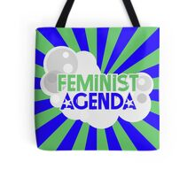 Feminist Agenda - Green and Blue Tote Bag