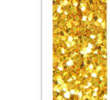 gold glitter j Sticker