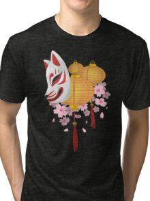 Festive Kitsune Tri-blend T-Shirt