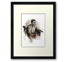 Japanese Warrior Samurai Katana Large Poster Framed Print