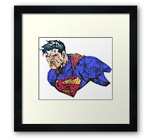 The Man of Steel Character Collage Framed Print