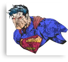 The Man of Steel Character Collage Canvas Print