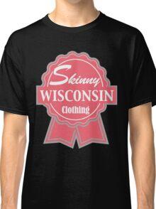 Wisconsin Skinny Pink Badge of Honor Classic T-Shirt