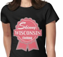 Wisconsin Skinny Pink Badge of Honor Womens Fitted T-Shirt