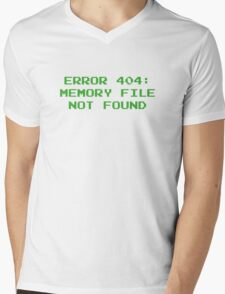 404 Error : Memory File Not Found Mens V-Neck T-Shirt