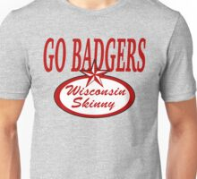 Wisconsin Skinny Madison Red and White Unisex T-Shirt