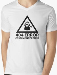 404 Error : Costume Not Found Mens V-Neck T-Shirt