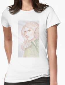 Watercolor Elf Womens Fitted T-Shirt