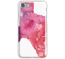 Watercolor Map of Texas, USA in Orange, Red and Purple - Giclee Print of my Own Painting iPhone Case/Skin