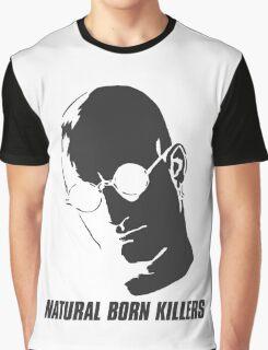 Natural Born Killers - Mickey Knox - Grey Graphic T-Shirt
