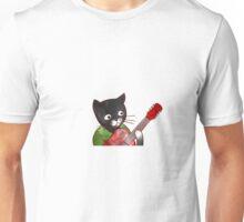 Jazzy Boy Kitten Playing Electric Guitar Unisex T-Shirt