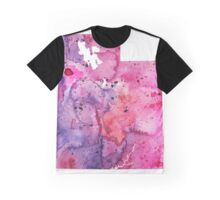 Watercolor Map of Utah,USA in Pink and Purple - Giclee Print of My Own Watercolor Painting Graphic T-Shirt