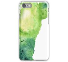 Watercolor Map of Vermont, USA in Green - Giclee Print My Own Watercolor Painting iPhone Case/Skin