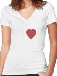 I Heart Cosplay White Text   (Clothing & Stickers)  Women's Fitted V-Neck T-Shirt