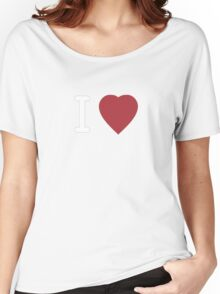 I Heart Cosplay White Text   (Clothing & Stickers)  Women's Relaxed Fit T-Shirt