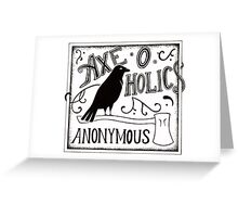 Axe-O-Holics Anonymous Black Raven  Greeting Card